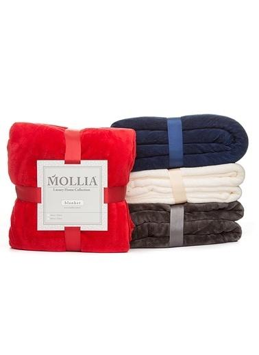 Mollia Soft Touch Çift Kişilik Battaniye Kırmızı